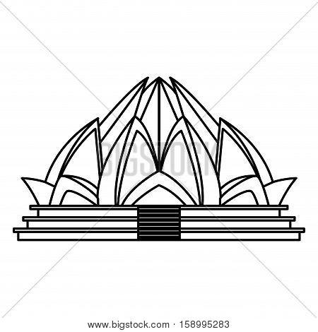 450x470 Lotus Temple Architecture Icon Vector Amp Photo Bigstock