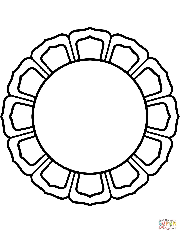 1161x1500 16 Petal Lotus Circle Coloring Page Free Printable Coloring Pages