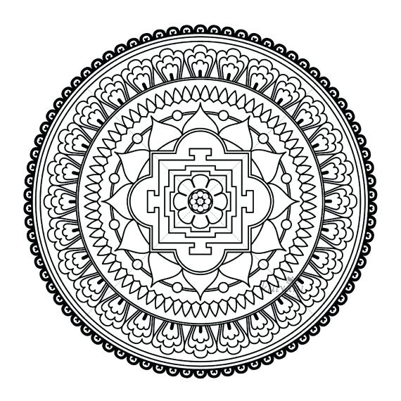570x570 Buddhist Coloring Pages Lotus Temple Adult Coloring Pages Buddhist