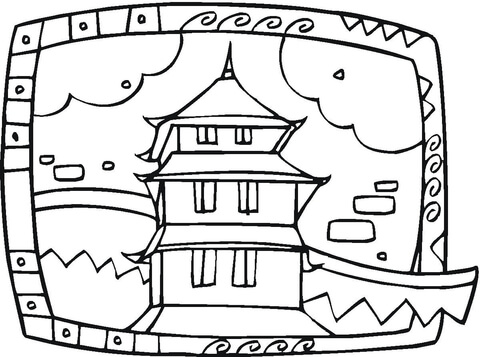 480x357 Buddhist Temple Coloring Page Free Printable Coloring Pages