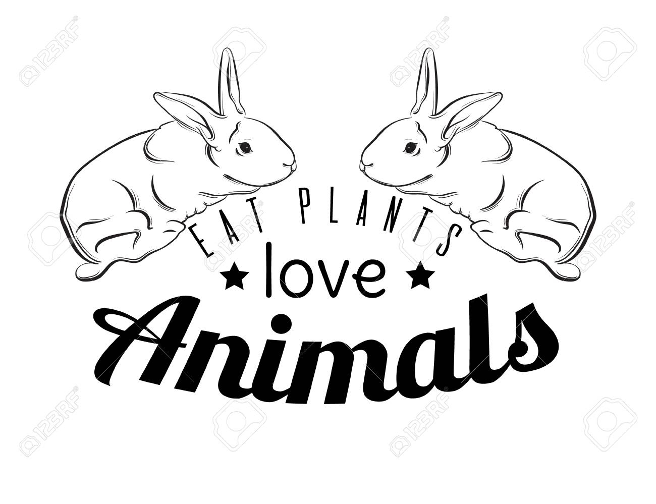 1300x999 Eat Plants Love Animals. Quote Typographical Background For Vegan