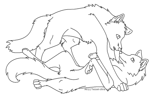 600x402 Free Wolf Love Lineart By Tesseri Shira Clip Art Free With Limit
