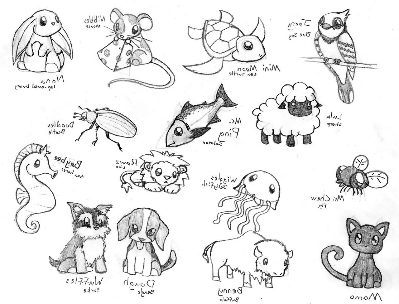 1280x975 Love Animals Drawing
