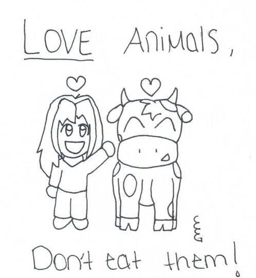 498x541 Love Animals, Don'T Eat Them. By Death Cherry