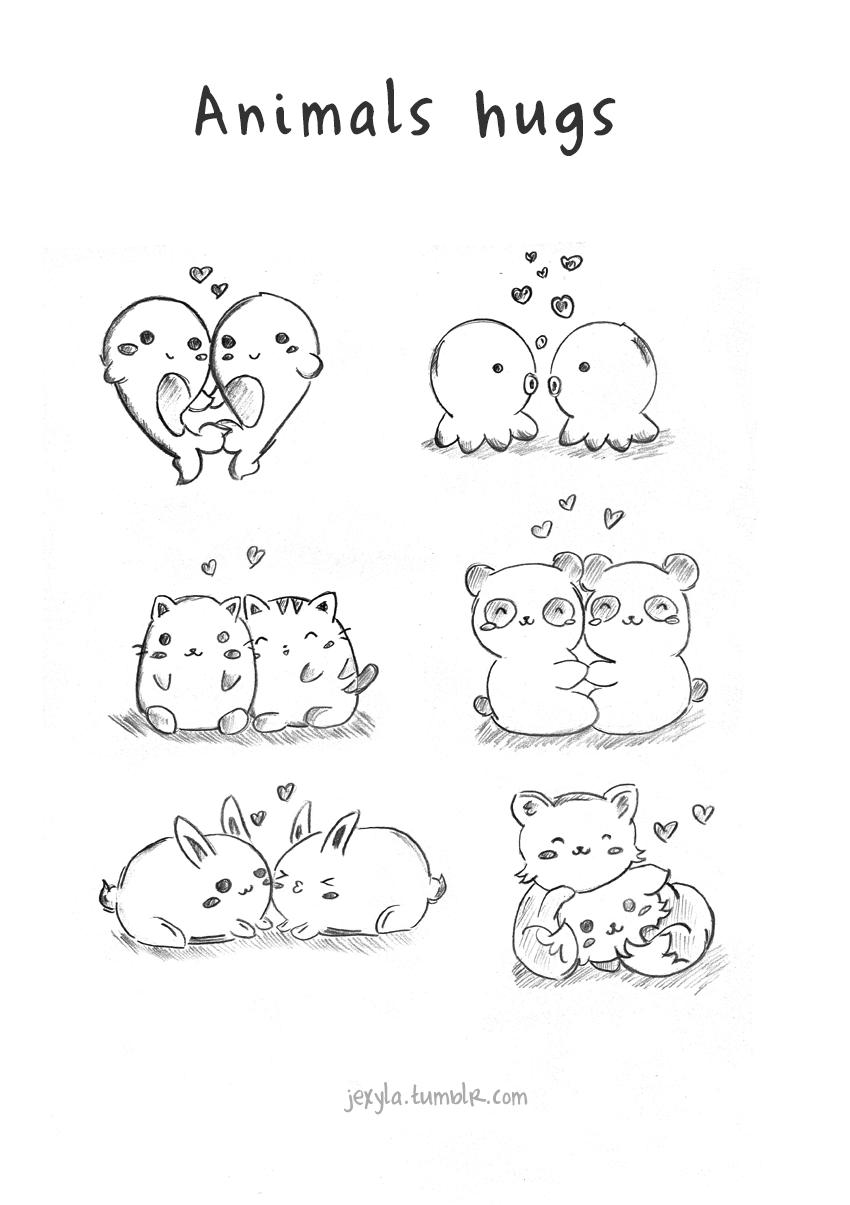 850x1205 Cute Animal Cuddle