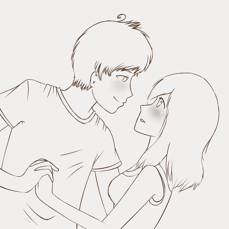 900x900 Cute Love Drawings Cute Couple Sketch By Grjon Love