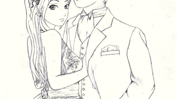 570x320 Drawings Of Anime Couples Cute Love Drawings Cute Anime Couples