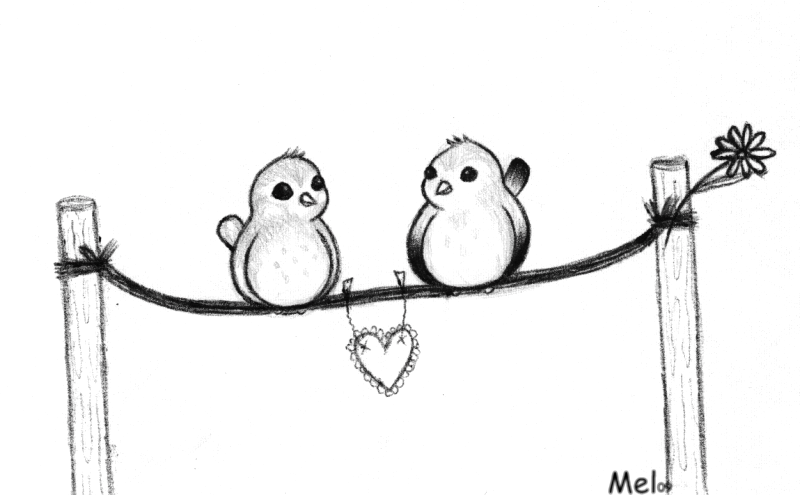 800x495 love birds sketch by emmani nessa on deviantart