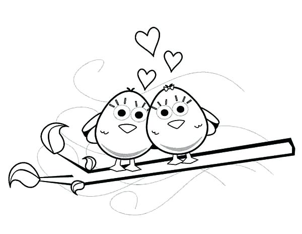 600x464 Love Bird Coloring Pages Adorable Love Birds Coloring Pages Love