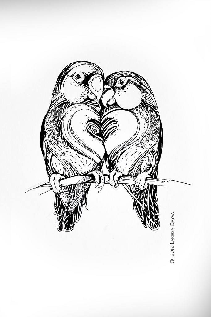 683x1024 Lovebirds Larissa Gryva