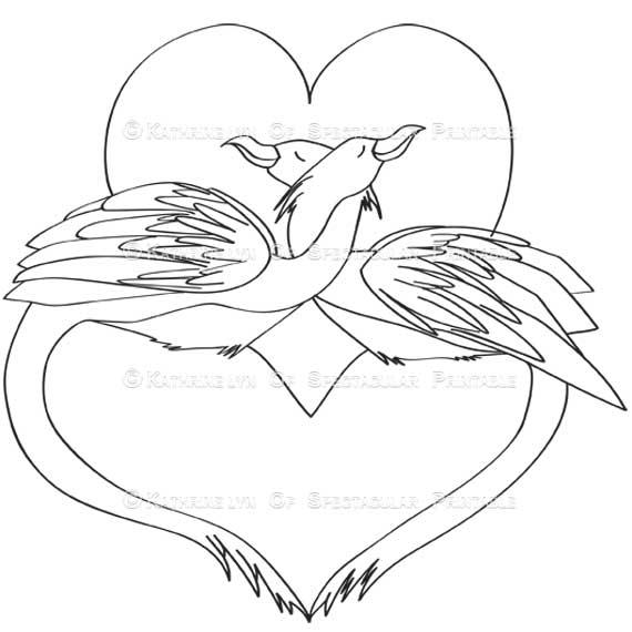 570x570 Love Bird Drawing