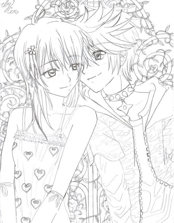 600x770 Love Birds, Namine + Roxas By Koyukitorigirl
