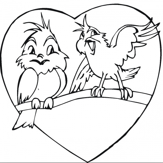 524x525 Love Birds Coloring Page Amp Coloring Book