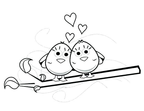 600x464 Trend Love Bird Coloring Pages Kids Birds Outstanding Angry Page