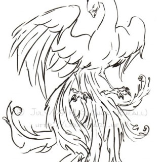 320x320 How To Draw An Angel Tattoo Step 4. Amy Holliday Illustration