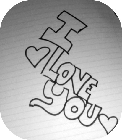 413x473 I Love You Drawing By Ilovemusicxx