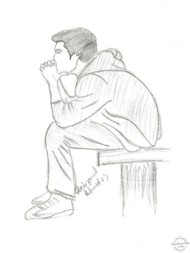 770x1024 Boy Sad Love Drawing