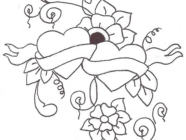 Love Flower Drawing