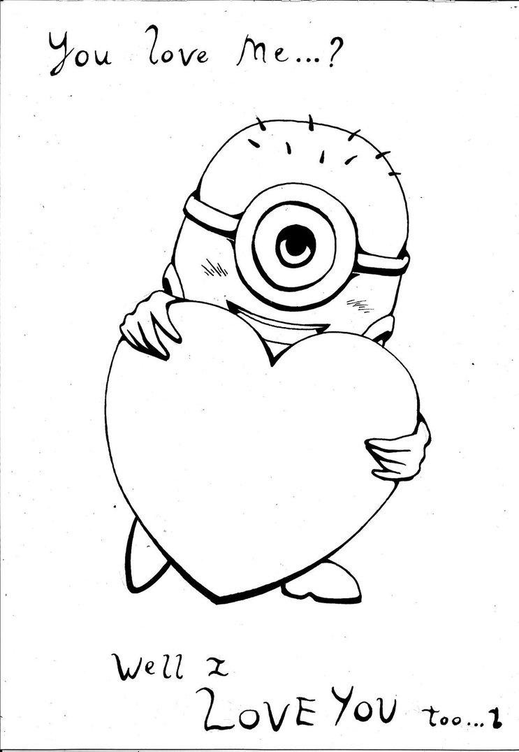743x1076 I Love You Too~ Line Art By Turbok1000