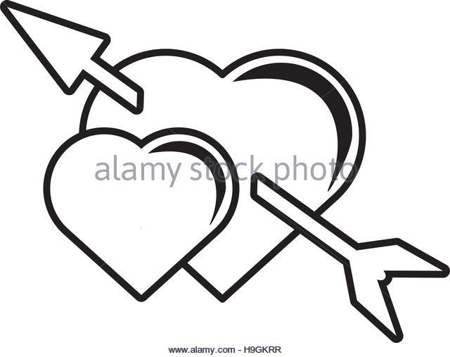 640x507 Heart Arrow Love Symbol Outline Stock Photos Amp Heart Arrow Love