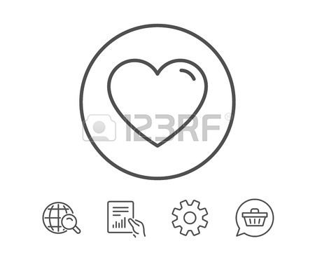 450x364 Heart Line Icon. Love Sign. Valentines Day Sign Symbol. Report