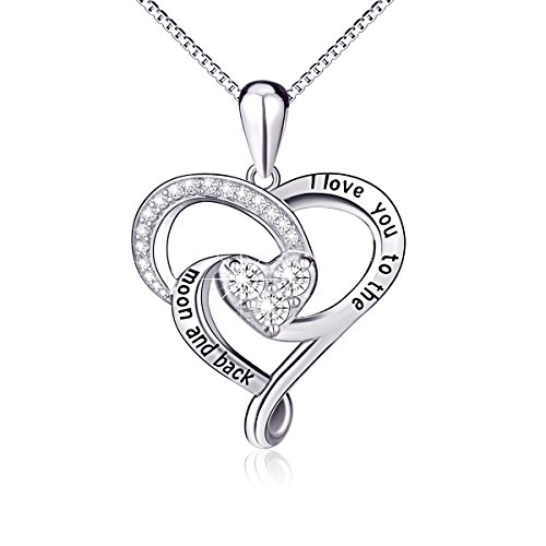 500x500 925 Sterling Silver Jewelry I Love You To The Moon And Back Love