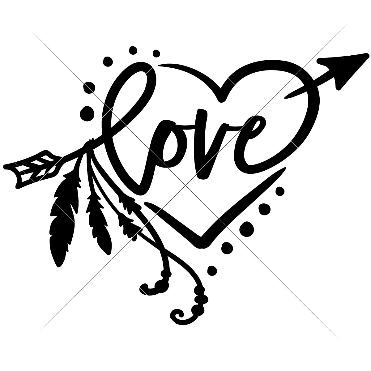 1200x1200 Heart With Arrow