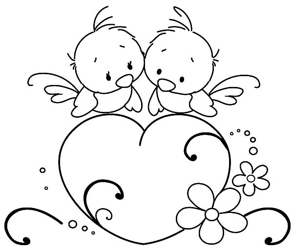 emo heart coloring pages | Love Hearts Drawing at GetDrawings.com | Free for personal ...