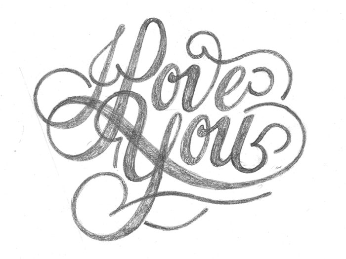 700x525 I Love You Drawings I Love You Sketch
