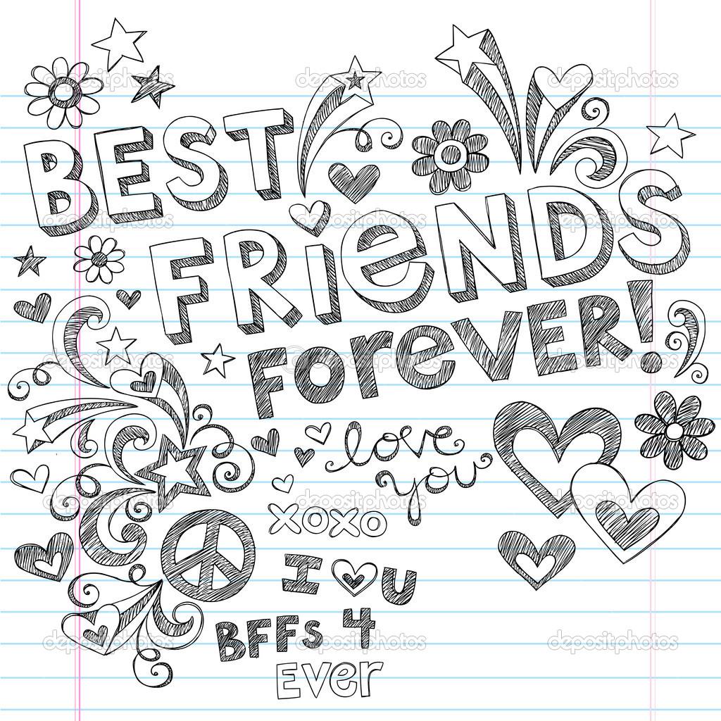 1024x1024 Pencil Art Friendship Wallpapers