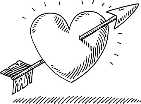 482x355 Love Heart Arrow Drawing Boo2 Arrow Drawing