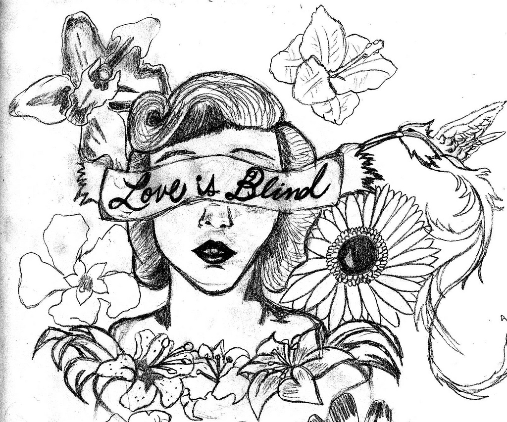 1024x853 Love Is Blind Piece Sketch I Did For The Idea