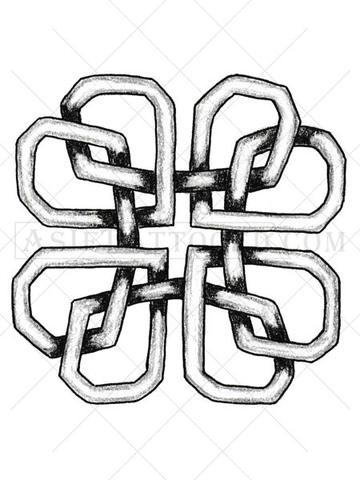 360x480 Celtic Love Knot Tattoo Design