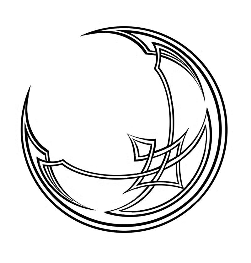 800x838 Crescent Moon Celtic Knot By Jlhilton