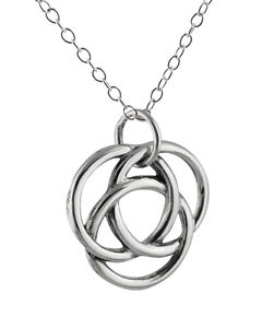 240x300 Infinite Circles Love Knot Necklace