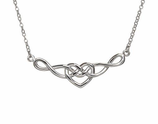 510x401 Sterling Silver Infinity Celtic Love Knot Necklet