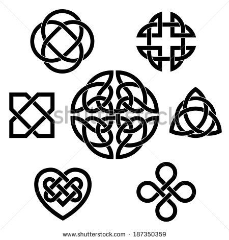 450x470 Variety Of Celtic Knots. Set Of Seven Traditional Celtic Infinity