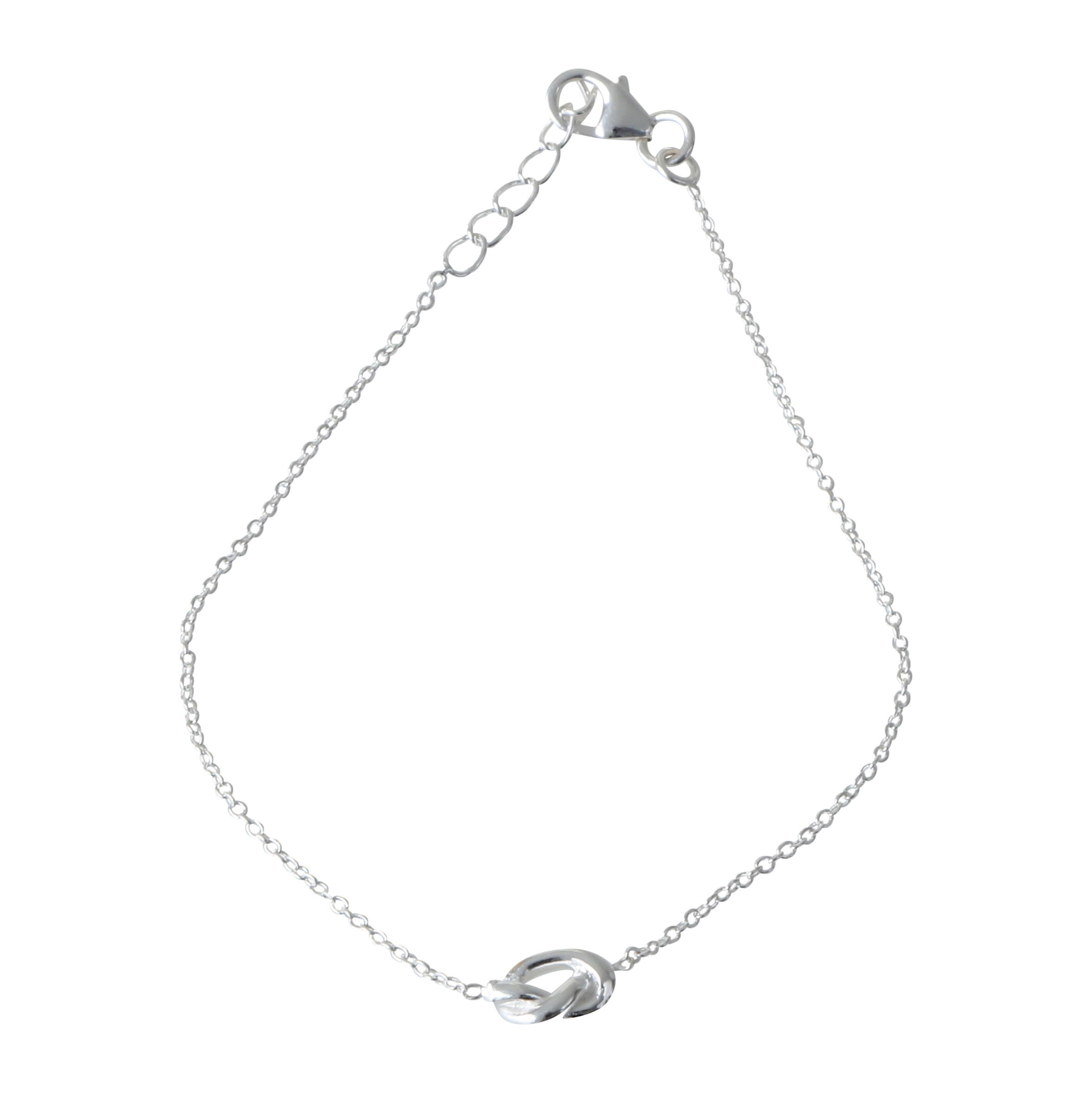 2355x2356 And Elegant Bracelet In 925 Sterling Silver With A Love Knot Symbol