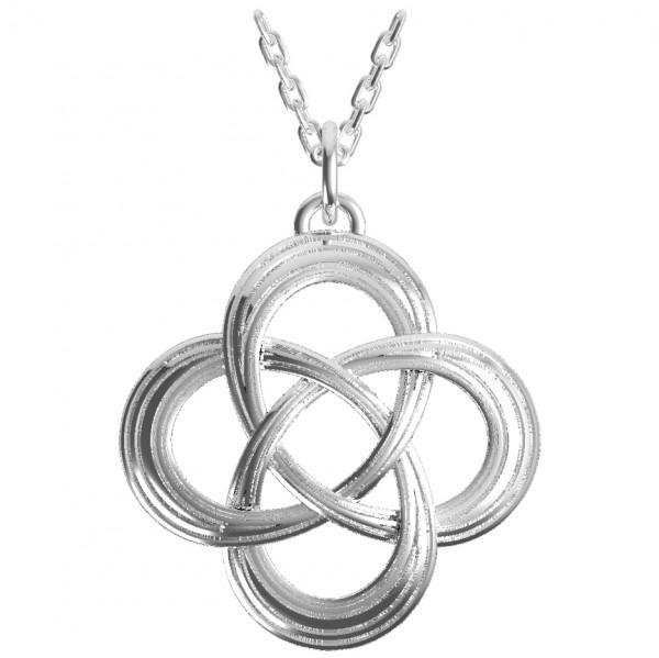 600x599 2512 Etched Celtic Love Knot Pendant