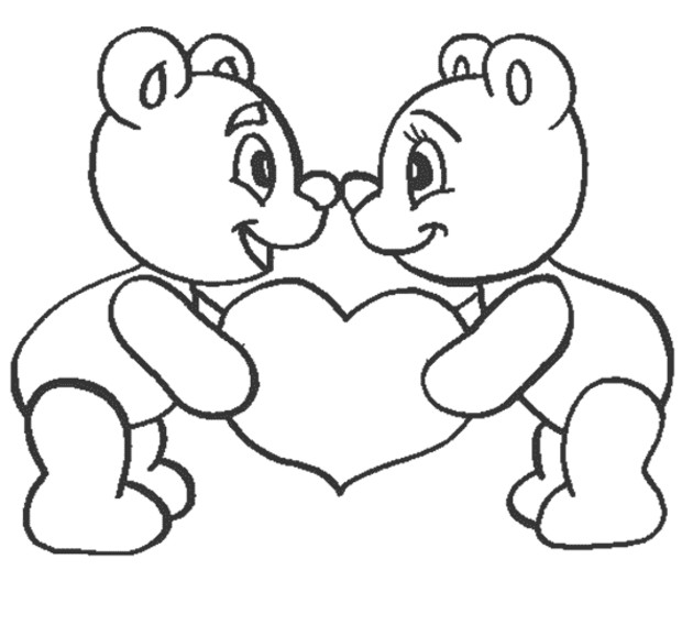 630x578 Love Coloring Pages Love Coloring Pages Teddy Bear In Love