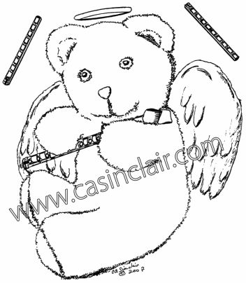 352x404 Teddy Bear And Flute Teddy Bear Art Bears That You Love