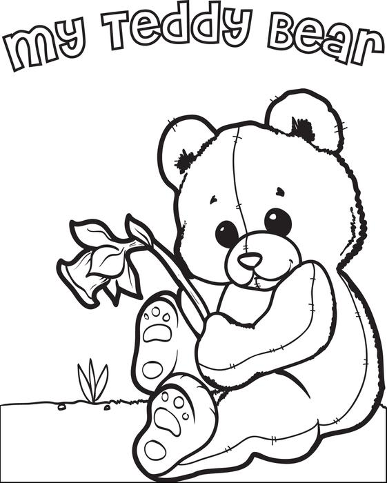 561x700 Free Printable Teddy Bear Coloring Page For Kids