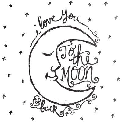 400x400 I Love You To The Moon And Back Art Print Baby Rooms I Like
