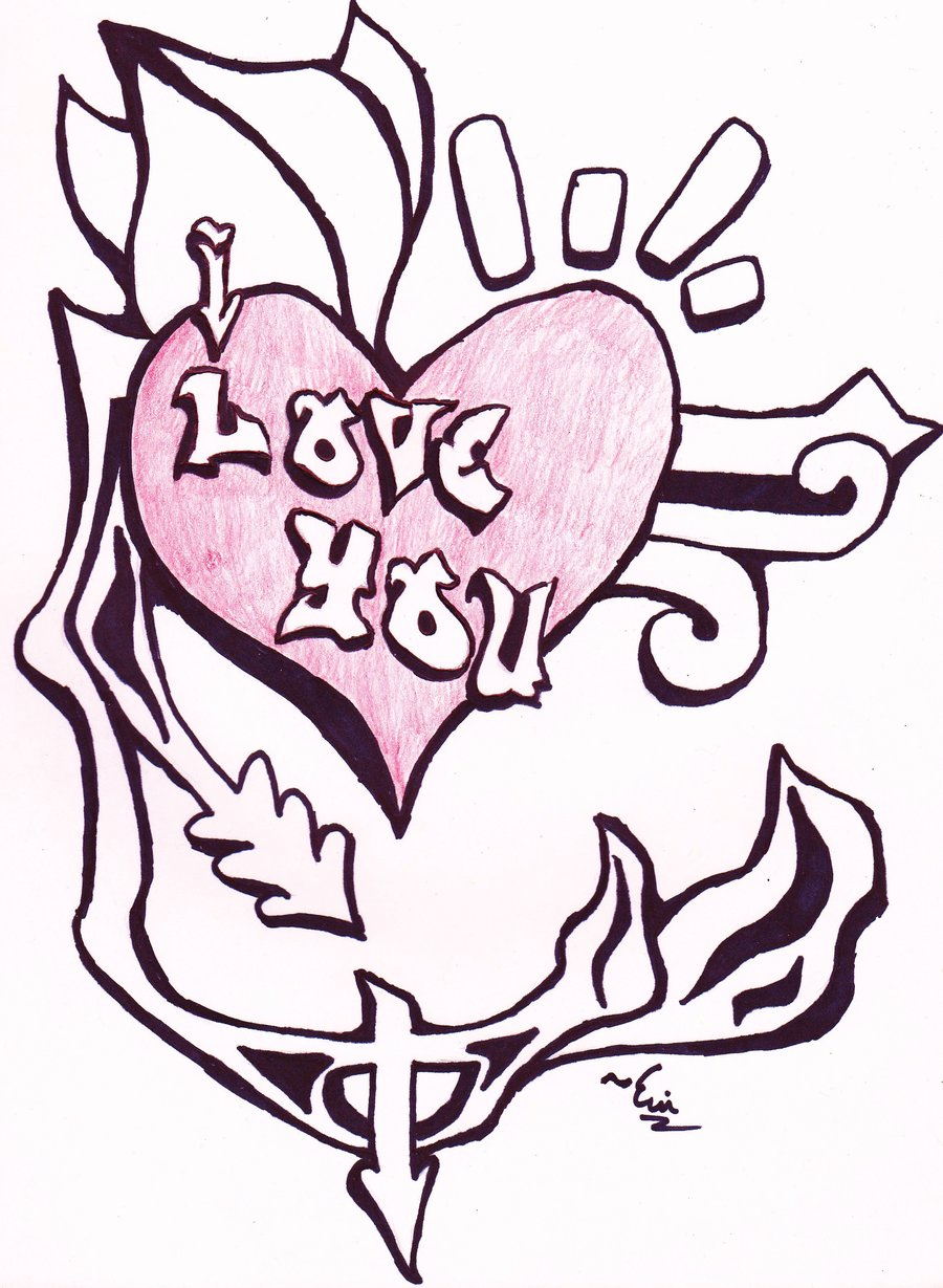 900x1229 Graffiti I Love You Drawings I Love You Drawings