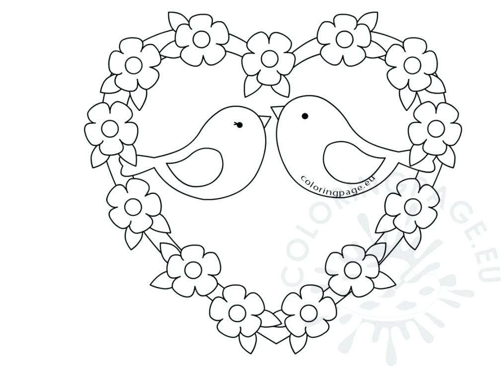 1009x738 Love Bird Coloring Pages Adorable Love Birds Coloring Pages I Love
