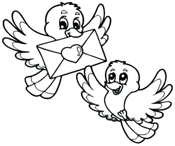 600x500 Love Bird Coloring Pages Affan
