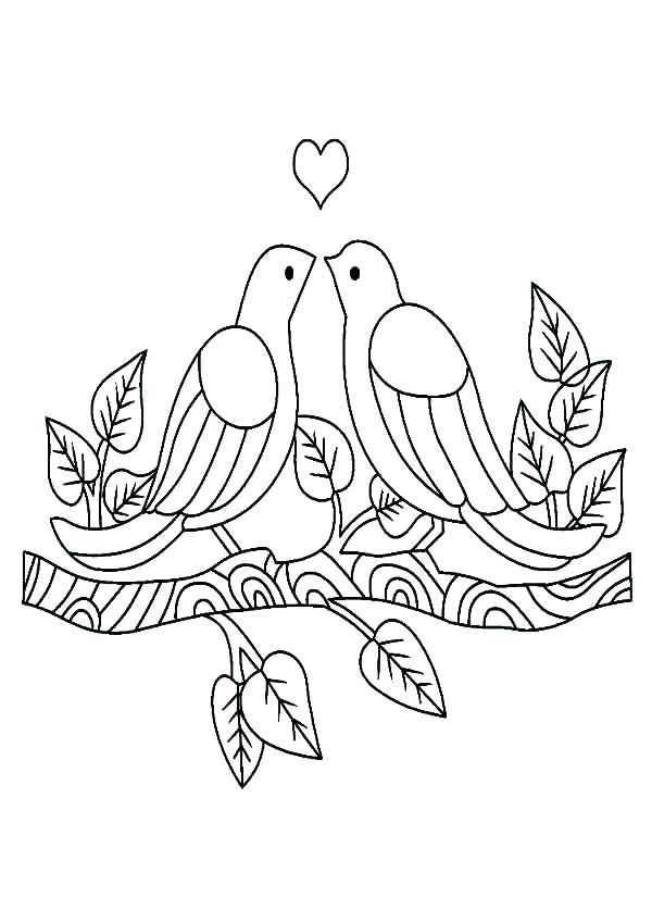 600x848 Love Bird Coloring Pages Art Of Coloring Page Love Birds By Love
