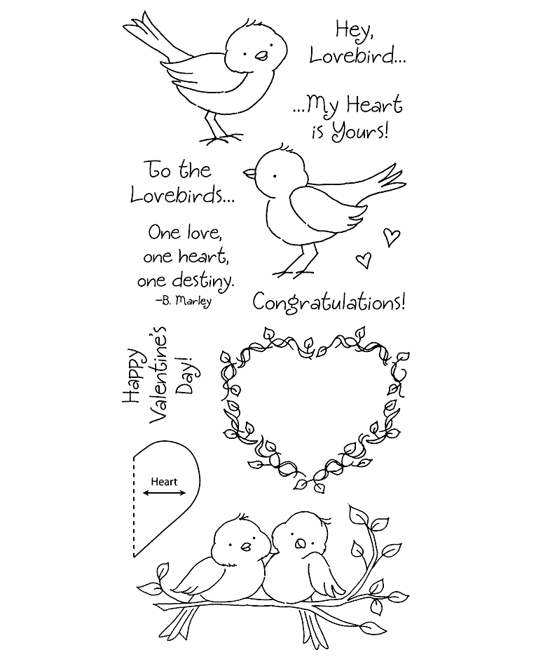 765x937 Lovebirds Clear Stamp Set 11219lc