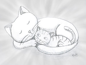 300x227 For The Cat Lovers Drawing By Karl Barth