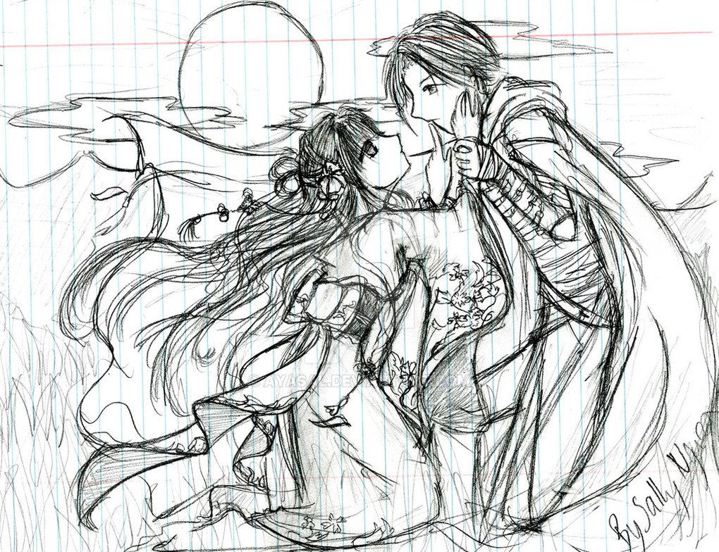 1020x784 Lovers Moonlight Sketch By Ayasal